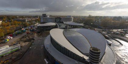 Stil en duurzaam luchtkanalensysteem bij Afas Experience Center in Leusden